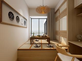 日式风格三居榻榻米装修效果图
