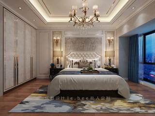 135㎡三居卧室装修效果图