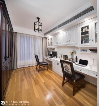 美式三居室书房装修效果图