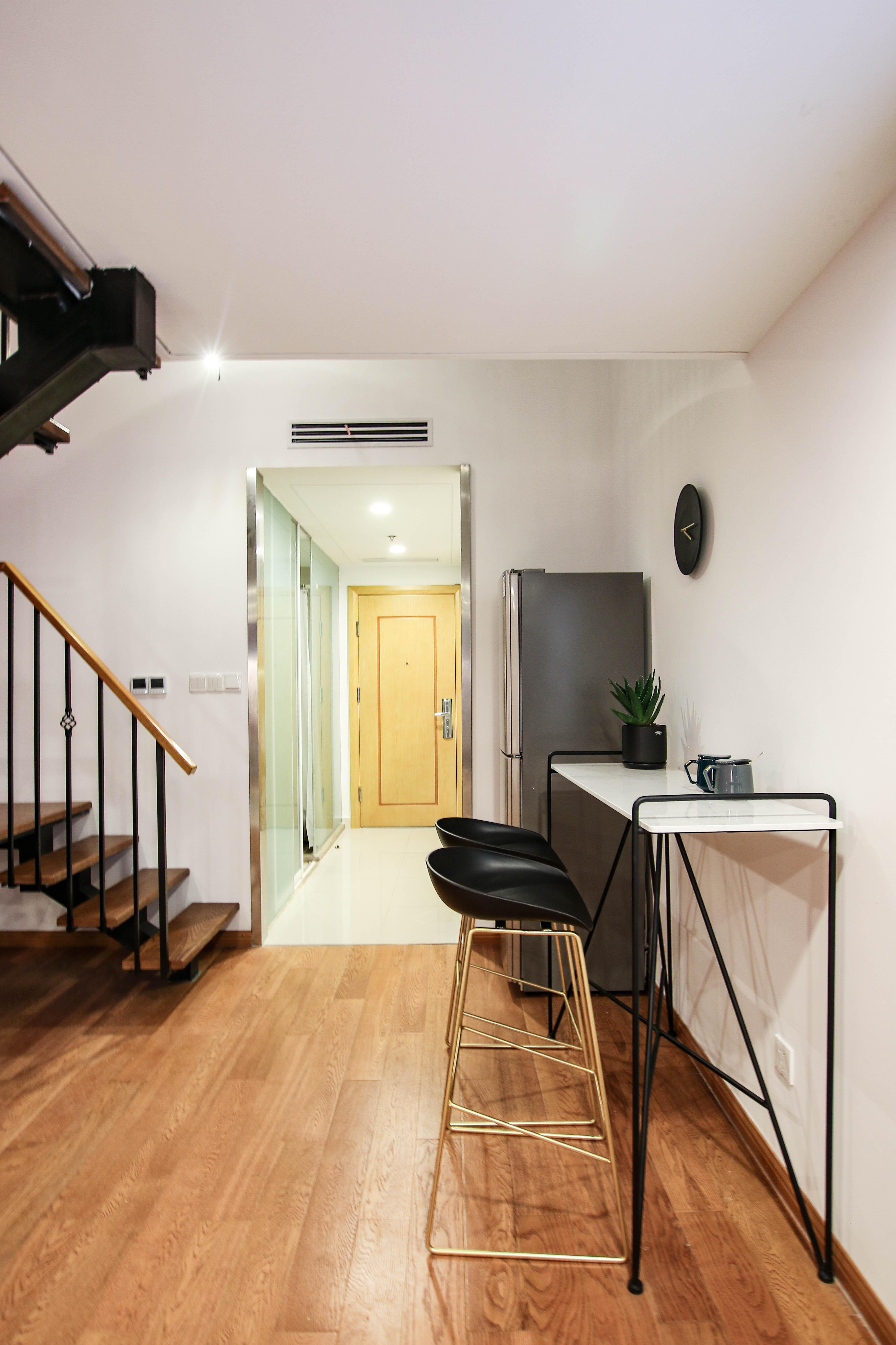 58㎡loft公寓吧台装修效果图