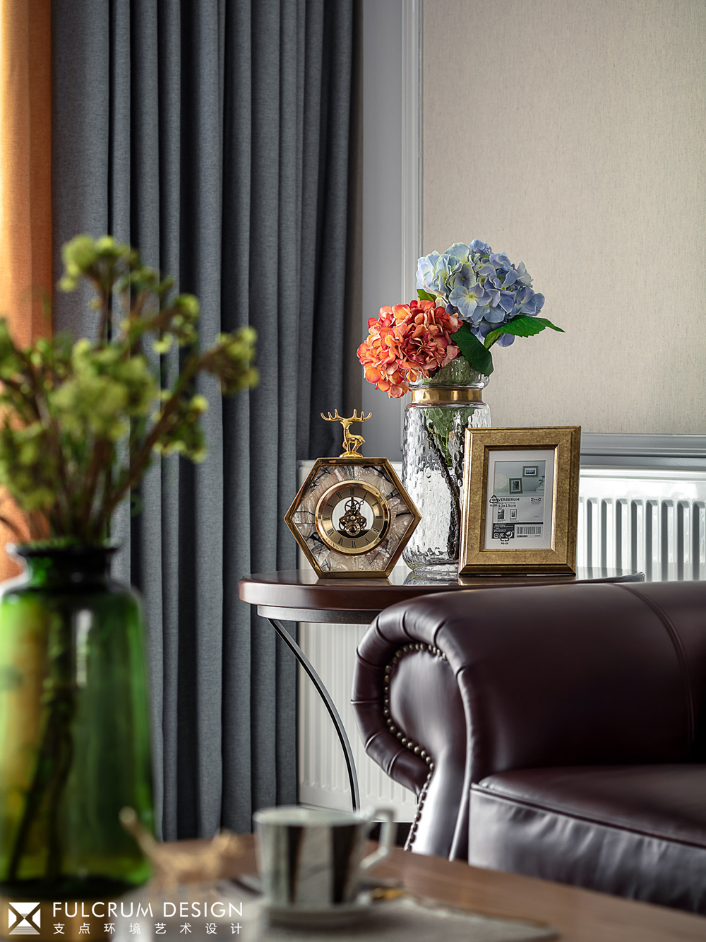 156平美式风格装修客厅小景