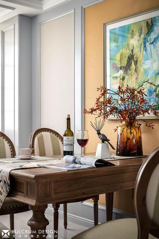 156平美式风格装修餐桌设计图