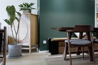北欧混搭风两居装修餐椅设计图