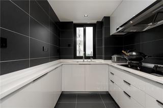 90平现代风厨房装修效果图