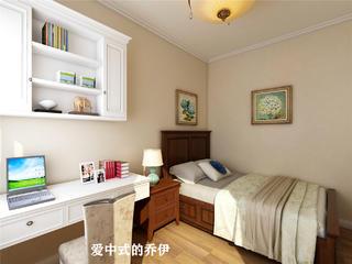 美式风格三居卧室装修效果图