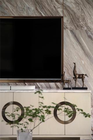 现代风别墅装修电视柜设计图