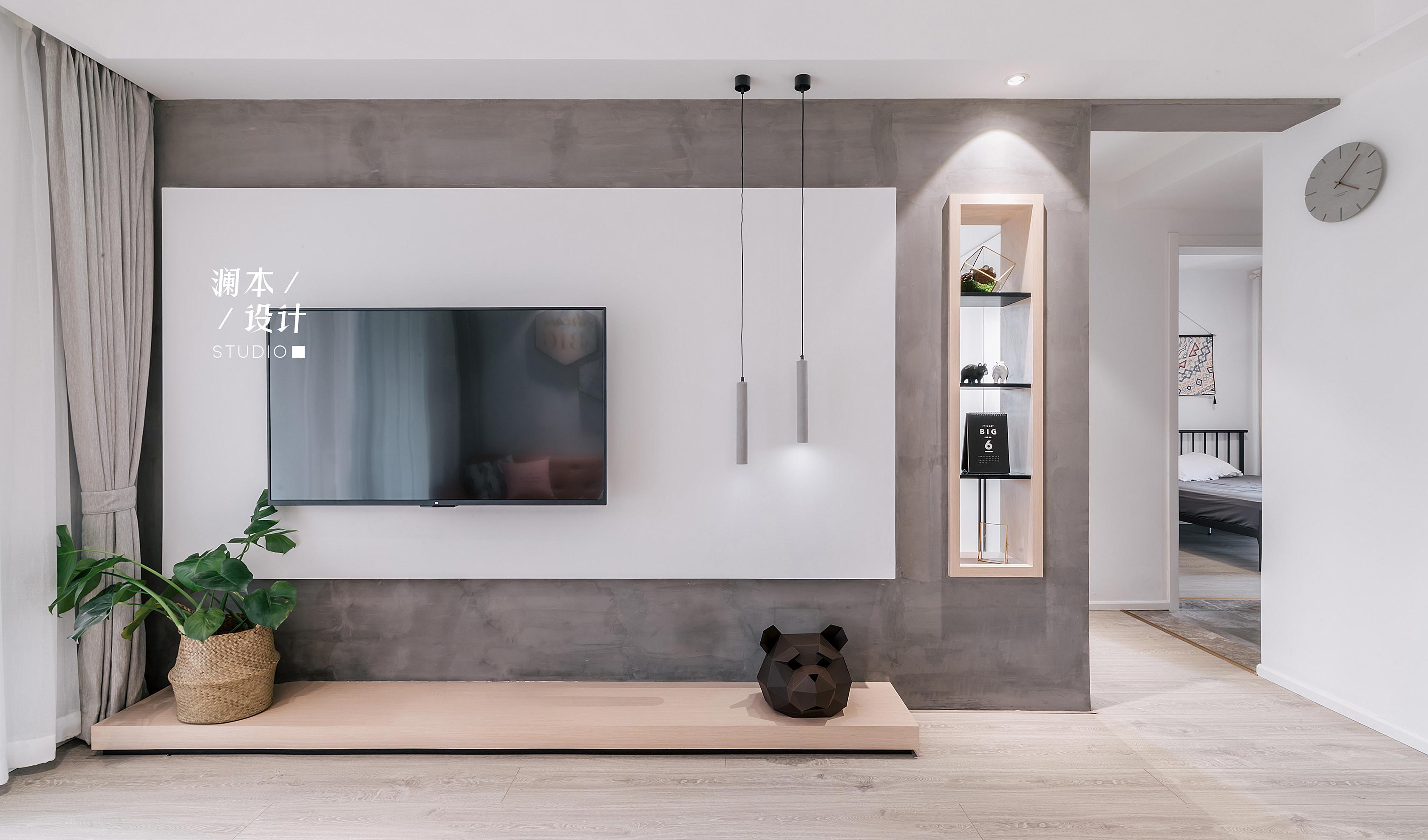 北欧风格二居室电视背景墙装修效果图
