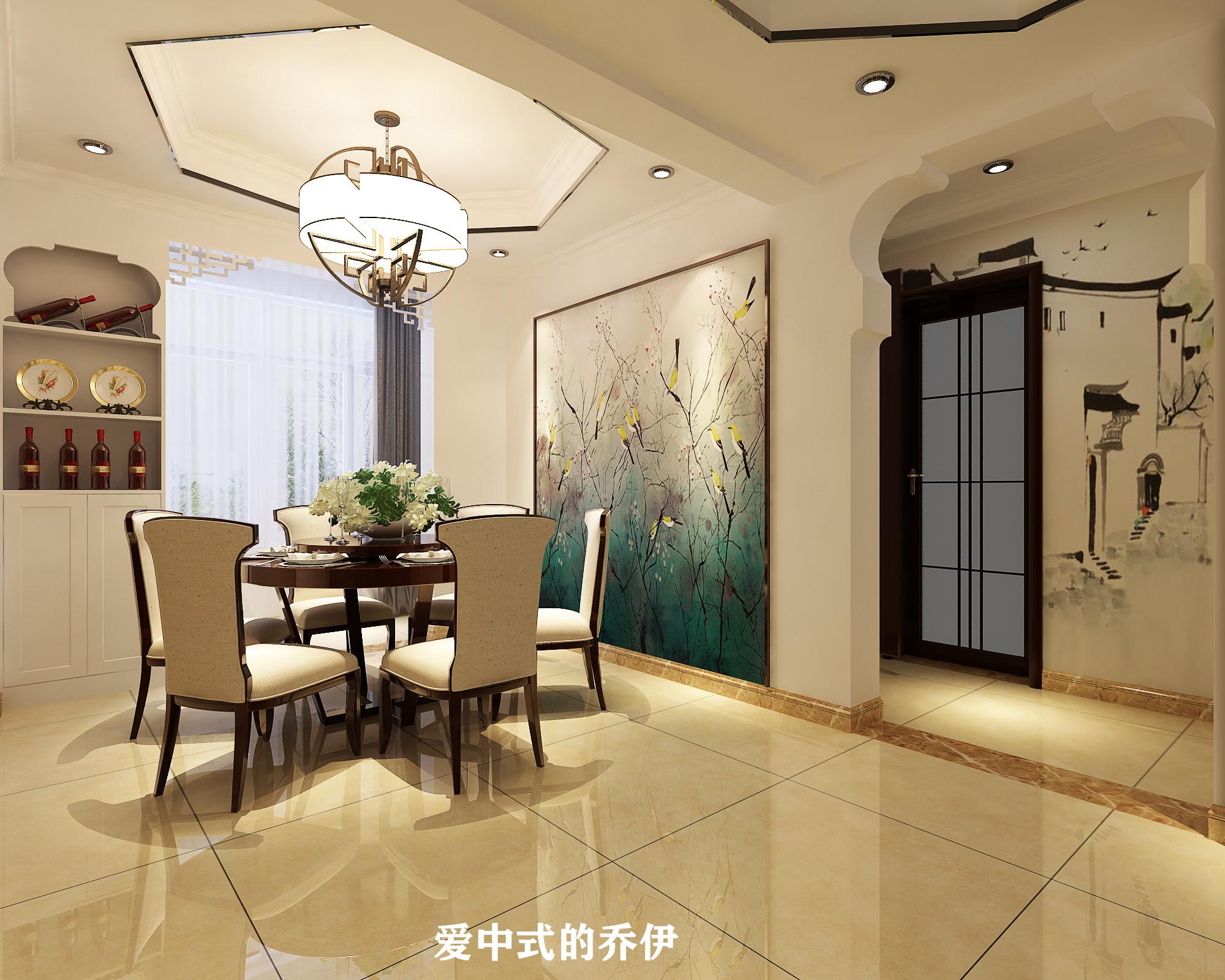 110㎡中式风格餐厅装修效果图