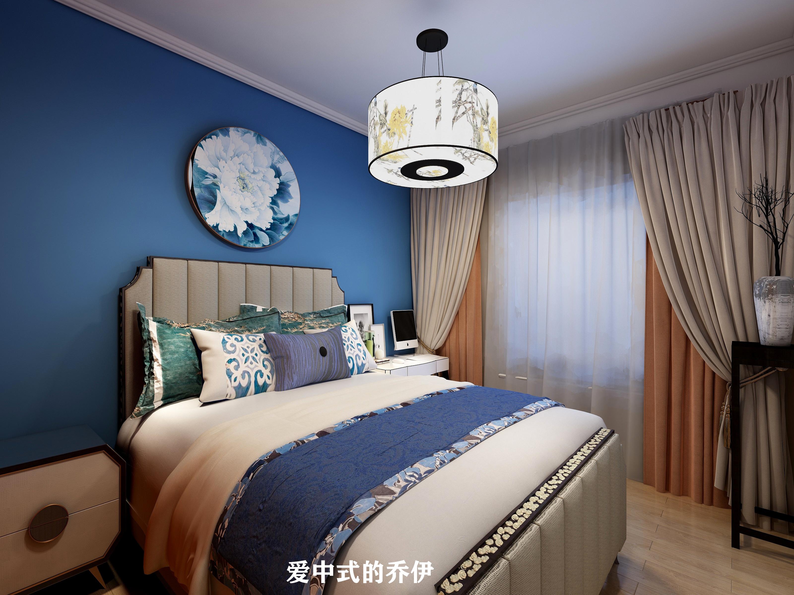 110㎡中式风格卧室装修效果图