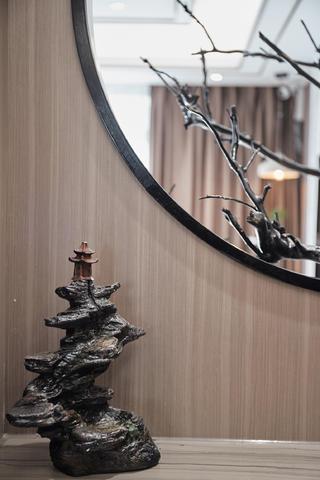 大户型现代中式风装修玄关小景