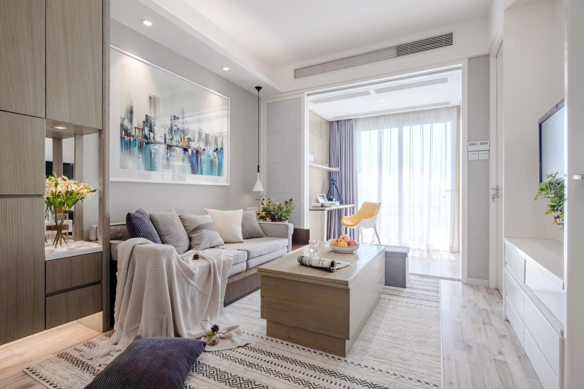 46平小户型二居客厅装修效果图