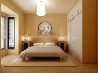 90平日式风格卧室每日首存送20
