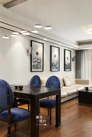 105平中式现代风装修餐桌椅设计图