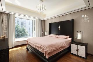 105平中式现代风卧室装修效果图