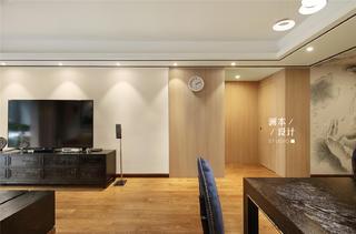 105平中式现代风电视背景墙装修效果图