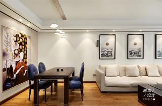 105平中式现代风餐厅装修效果图
