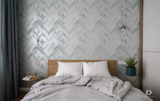 120㎡北欧风格卧室背景墙装修效果图