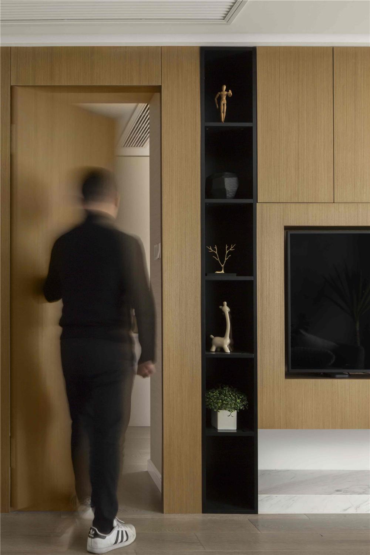 120㎡现代风格隐形门装修效果图