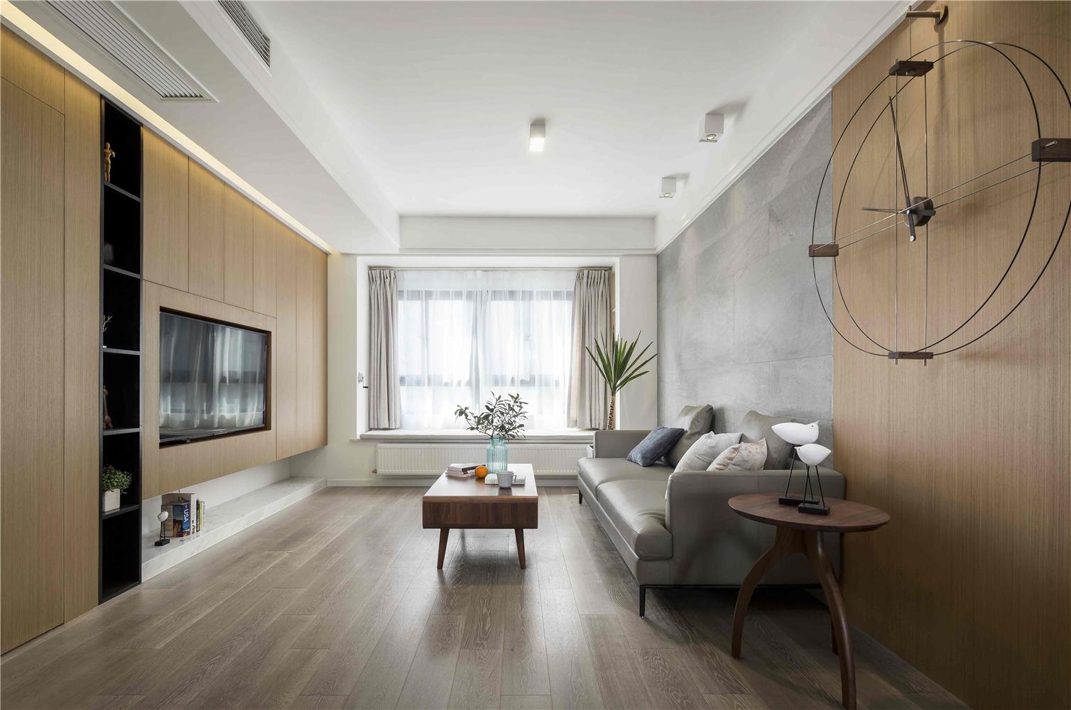 120㎡现代风格客厅装修效果图