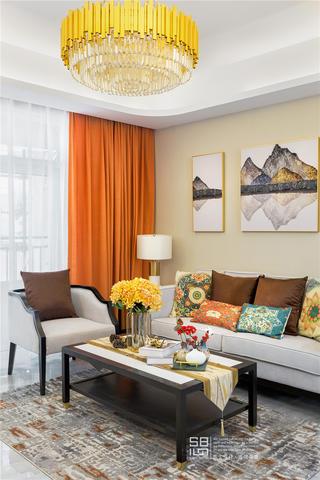 新中式风格四居客厅装修搭配图