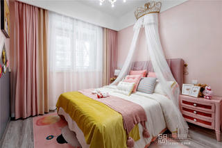 粉色调儿童房装修效果图