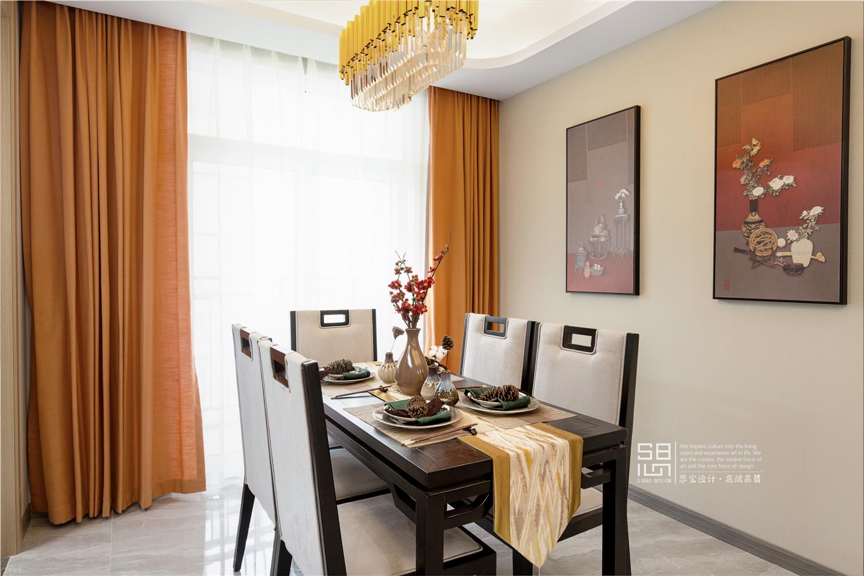 新中式风格四居餐厅装修效果图