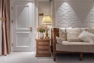 180平美式风格沙发背景墙装修效果图