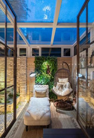 180平美式风格庭院装修效果图
