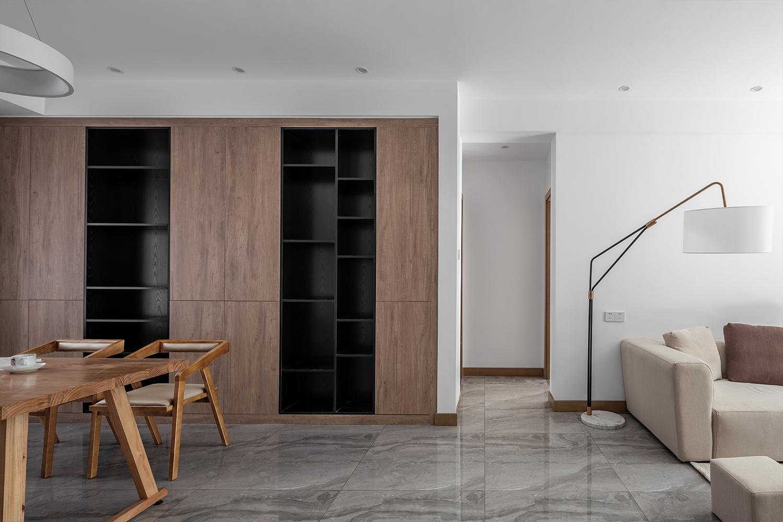 简约北欧风三居书柜装修效果图