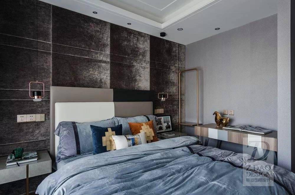 时尚轻奢别墅卧室装修效果图