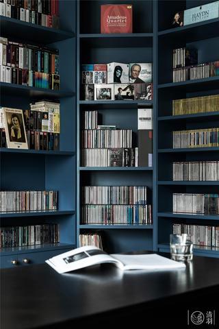大户型现代简约风装修书柜设计图