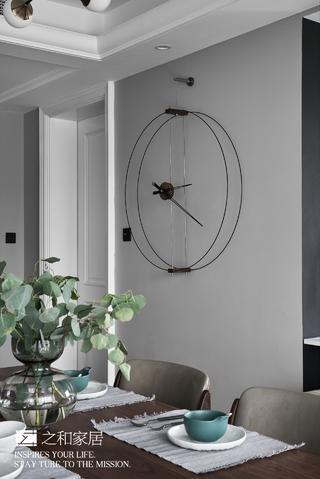 170㎡现代混搭风装修极简挂钟设计