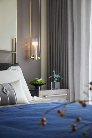 现代新中式别墅装修床头吊灯设计
