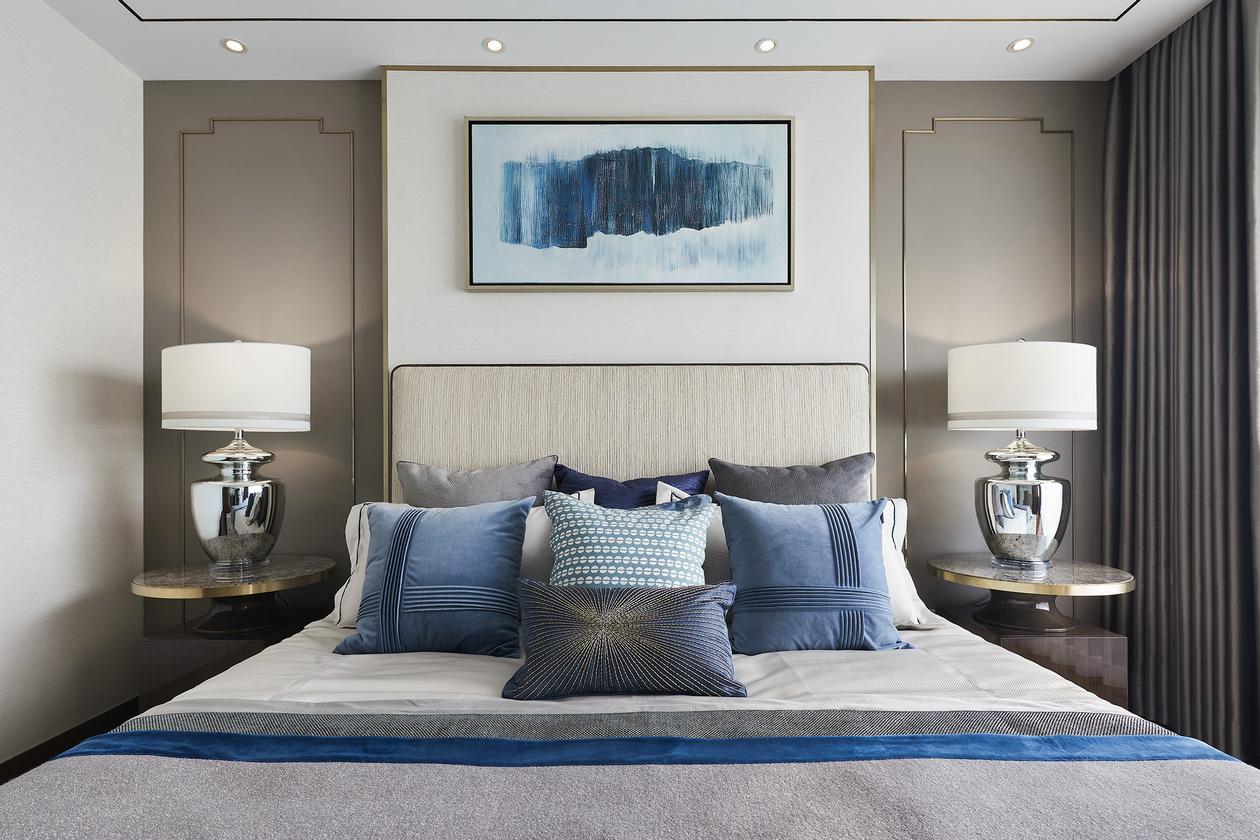 新中式房间床头背景