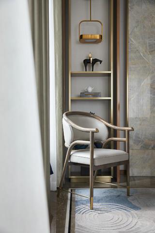 现代新中式别墅装修休闲椅设计