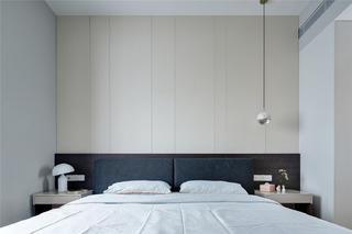 三居室简约现代风床头背景墙装修效果图