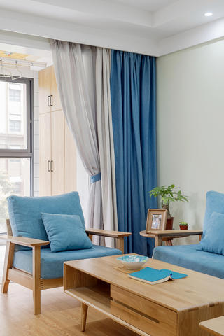 120㎡日式风格装修茶几沙发设计图