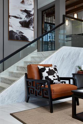 新中式风格别墅装修沙发椅设计图