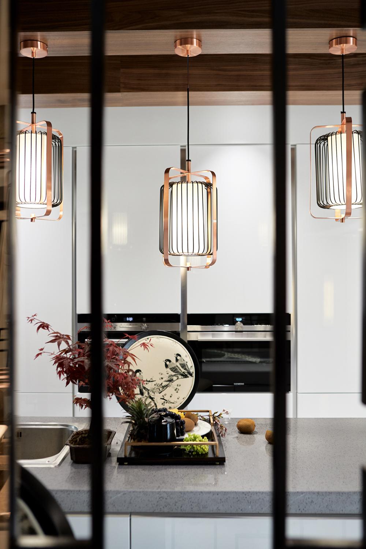 新中式风格别墅装修吊灯设计图