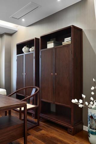 新中式风格别墅装修书柜设计图