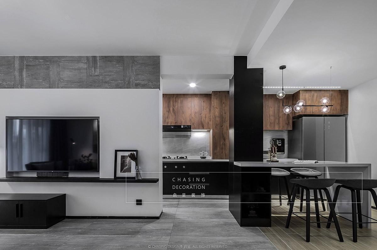 现代简约风二居厨房装修效果图