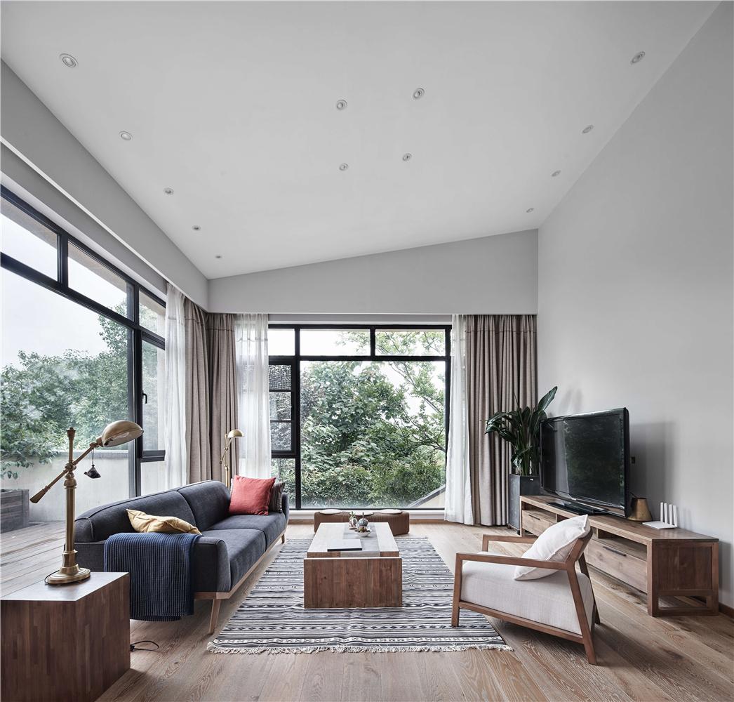 日式风格别墅客厅装修效果图