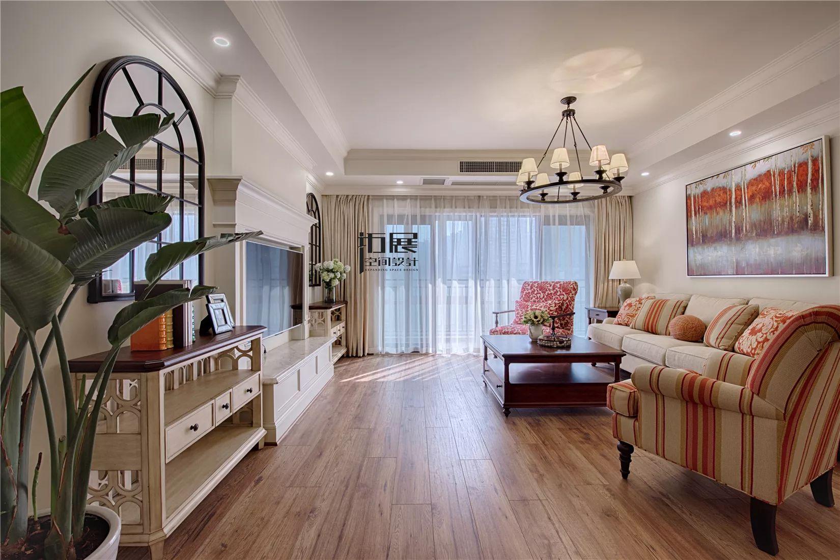 四居室美式风格客厅装修效果图