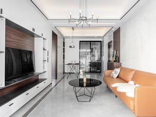 77平现代简约三居客厅装修效果图