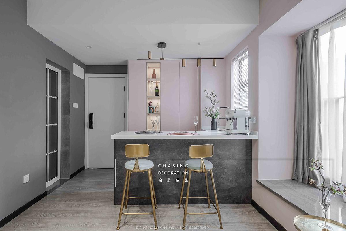 48平小户型公寓吧台装修效果图