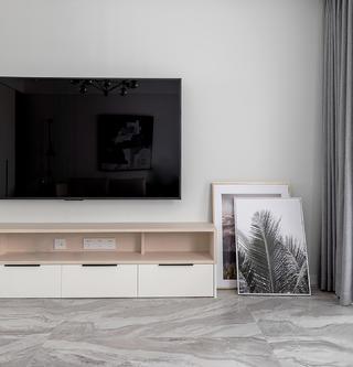 160㎡北欧现代风装修电视柜设计图