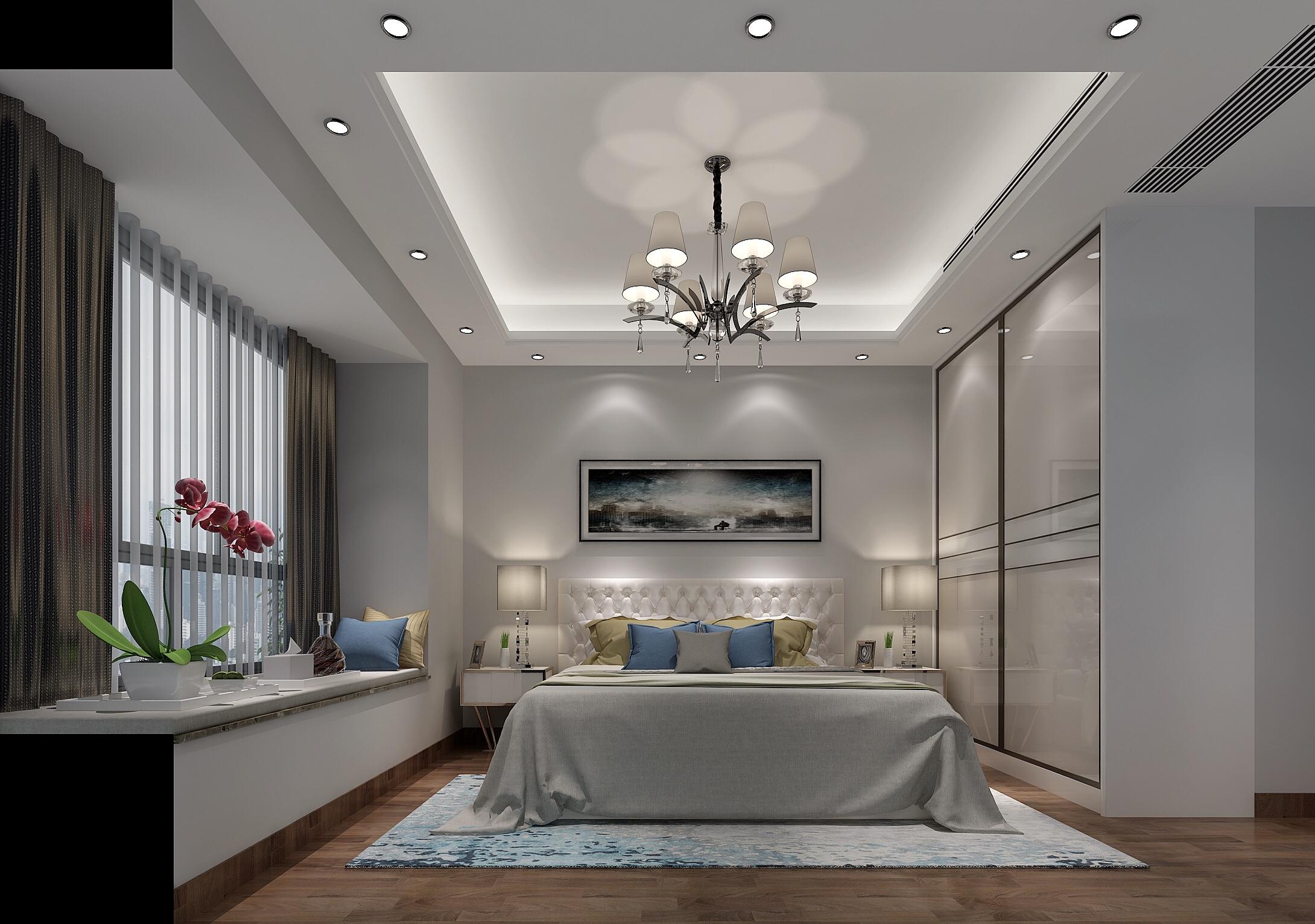 现代简约卧室装修设计效果图