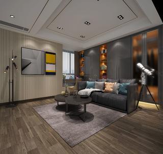 大户型现代轻奢风格休闲室装修效果图