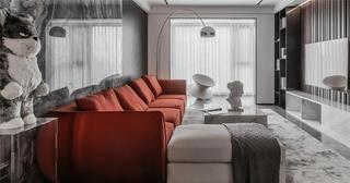 170平现代风格客厅装修效果图