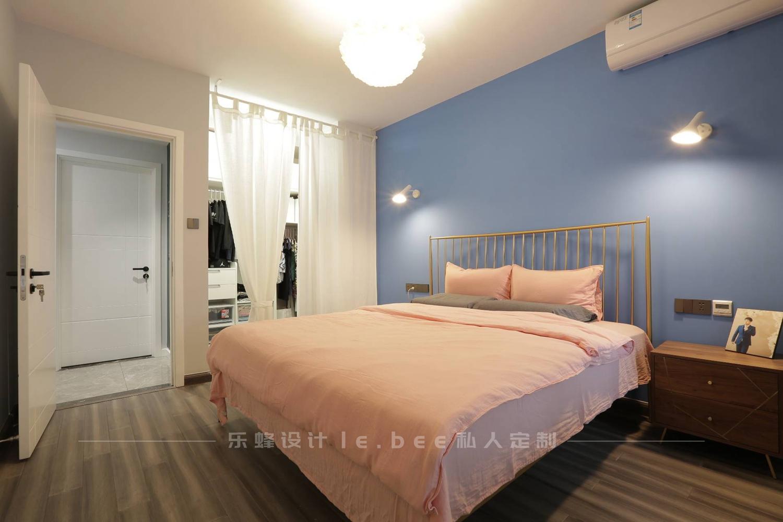 90㎡北欧风卧室装修效果图